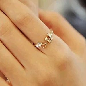 Adjustable Music Note Ring- gold plated